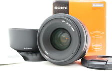 【 ALMOST MINT In BOX 】 SONY DT 35mm F1.8 SAM SAL35F18 W/ Lens Hood From JAPAN