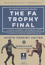 2015 FA TROPHY FINAL - NORTH FERRIBY UNITED v WREXHAM (29th March 2015)