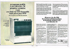 PUBLICITE ADVERTISING 035  1966  LACORAMA 70 cuisinière à gaz ( 2p)