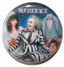 "1"" (25mm) Beetlejuice 1988 Horror Movie Button Badge Pin - High Quality"
