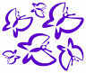 6 BUTTERFLIES window,bathroom,baby kids room wall art decal stickers.26 colours!