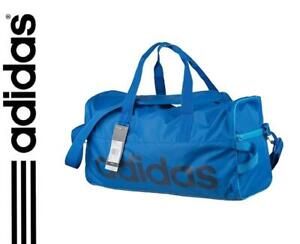New adidas Linear Team Bag Small Holdall Duffel Sports travel bag Blue