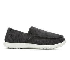 Crocs Size 10 Black Slip On Loafers New Mens Shoes