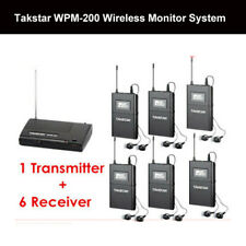 Takstar WPM-200 Wireless In-Ear Monitoring Audio System + 6 Receivers 780-789Mhz