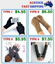 MEN WOMEN UNISEX WINTER GLOVES GLOVE NEW FASHION KNIT TOUCH SCREEN *AUS*