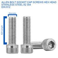 DIN 912 M6 x 16mm CAP HEAD ALLEN BOLTS CAP SOCKET SCREWS A2 STAINLESS STEEL