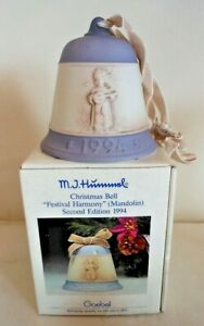 Vintage Goebel Boxed Christmas Bell, Festival Harmony, Second Edition c.1994