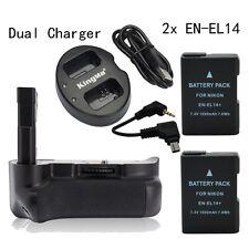 MeiKe Vertical Battery pack Grip for Nikon D5200 + 2* EN-EL14 + Dual Charger