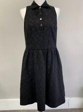 W by Worth Women's Black Sleeveless dress with full skirt sz 12 pockets