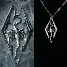Unisex Dragon Pendant Chain Necklace - Skyrim & Elder Scrolls Gift