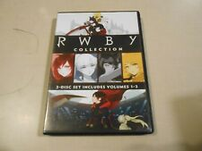 RWBY Collection 3-Disc DVD Set Volumes 1 2 3 Rooster Teeth FREE SHIPPING