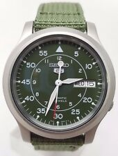 SEIKO Men SNK805 SEIKO 5 Automatic Green Cloth Band