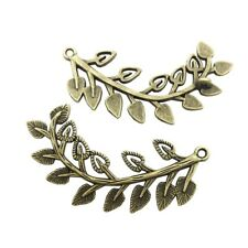 10pcs 22x44mm Antique Silver Plated Branch Charms Pendant Jewelry Findings 8925