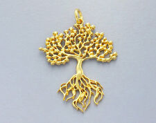 Style Tree of Life Pendant 925 Sterling Silver 24k Gold Vermeil
