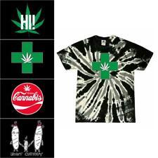 Marijuana Weed Tie-Dye T Shirts - Mens Womens THC CBD Unisex Tie Dye T-Shirts