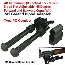 Aluminum QD Tactical 6.5-9 inch Bipod Come With M1 Garand Bipod Adapter Combo