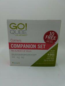 """AccuQuilt GO! Qube 8"""" Companion Set-Corners New!"""