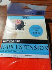 "ORANGE18"" SYNTHETIC HAIR EXTENSION TAP FASHON EUROPEAN STYLE CLIPIN £4.99 FREE P"