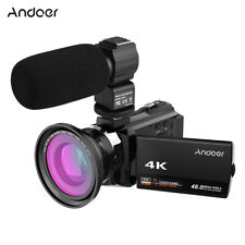 Andoer 3'' 4K 48MP WiFi Digital Video Camera DV Recorder 16X Zoom Camcorder+Mic