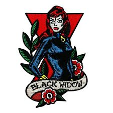"Marvel Agent ""Black Widow"" Iron-On Patch Avengers Superhero DIY Apparel Applique"