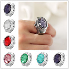 Fashion Oval Shape Ring Watch Women's Quartz Finger Watches Elastic Band Gift