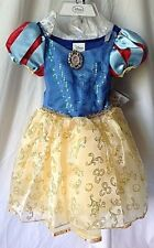 New Disney Snow White Deluxe Costume Girl Dress Up Princess Halloween Sz 2/3 XXS