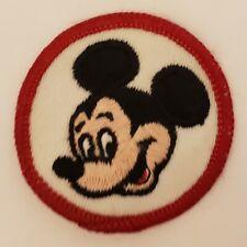 "Vintage Walt Disney Disneyland Mickey Mouse Sew On Patch 2"""