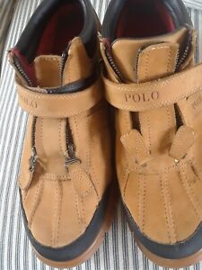 Polo Ralph Lauren Conquest II Boots Tan Suede Nubuck Leather Sz.10 D
