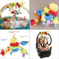Baby Crib Cot Pram Hanging Rattles Spiral Stroller Seat Toy with Ringing Bells
