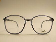 American Optical Flex Royabi Rare Vintage Dark Grey Eyeglasses Demo Lenses