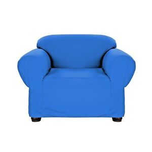 Jersey Cobalt Blue Stretch Slipcover Sofa Furniture Protector Chair Couch Cover