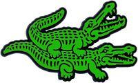 Auto 3D Aufkleber Relief Schild Krokodil 9 cm Krokodile HR Art. 4843 in grün