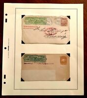 1896 Wells Fargo Express Mexico Cover & Front Lot - HTF Multiple Franking