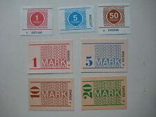 Satz 7x Gefängnisgeld Wertgutschein DDR A-Serie original + kassenfrisch Banknote