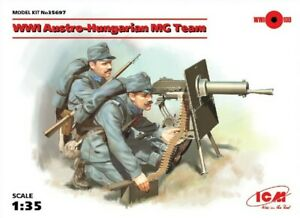 PLASTIC FIGURES WWI AUSTRO-HUNGARIAN MG TEAM (2 FIGURES) 1/35 ICM 35697
