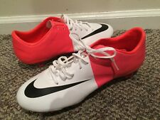 NEW NIKE MENS MERCURIAL VAPOR VIII FG SOLAR RED SOCCER CLEATS 509136 106 9.5