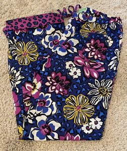 Vera Bradley Women's African Violet Pajama Lounge Pants Bottoms Floral Small EUC