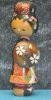 ANCIENNE FIGURINE POUPEE BOIS JAPON JAPONNAISE STATUE GUERRIERE