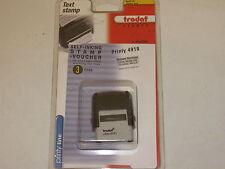 Trodat Printy 4910 Self-Inking Text Stamp & Voucher: max. 3line x 20char, 26x10