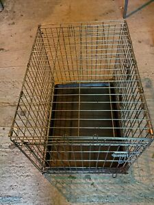 "Dog Cage Puppy Pet Crate Carrier - Large 30"" X 21"" Metal"