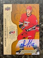2018-19 Upper Deck Engrained Andrei Svechnikov Rookie Auto On Card Autograph RC