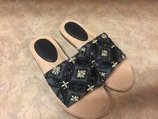 Latigo Vella Women's Sandals & Flip Flops Black EMBROIDERED NEW
