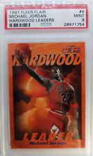 1997 97-98 Flair HARDWOOD LEADER Michael Jordan #4, PSA 9, Rare Pop 18, only 19^