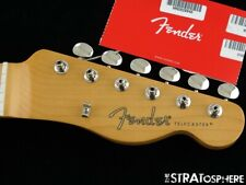 """Fender Noventa Telecaster Tele NECK + TUNERS 9.5"""" Radius """"C"""" Guitar Maple"""