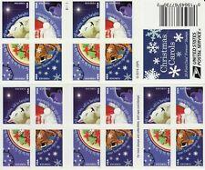 CHRISTMAS CAROLS STAMP BOOKLET -- USA #5250B FOREVER CHRISTMAS