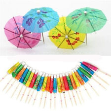 50X Paper Cocktail Parasols Umbrellas Party Wedding Supplies Luau Drink StickAU