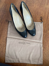 Black Snakeskin Louboutin Pumps With Gianvito Rossi Dustbag Size 39