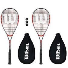 2 x Wilson Pro 900 Squash Rackets  3 Squash Balls RRP 110