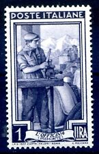 ITALIA 1955 - ITALIA AL LAVORO STELLE  Lire 1  NUOVO **