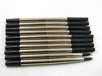10pcs BLACK Parker style  RollerBall Pen Refills medium Nib 11.8cm Most JYL
